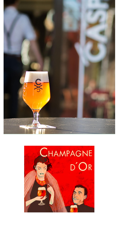 Champagne yeast blond bier beer CASPAR Brouwerij CC Arnhem Speciaalbier gist