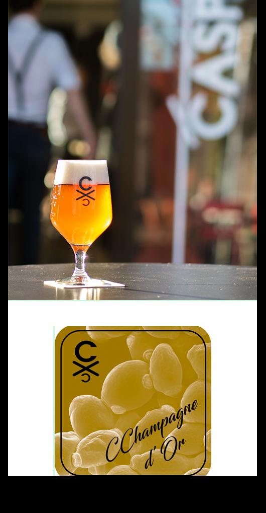 Champagne d'Or CChampagne Arnhem Goud Brouwerij CC Blond CASPAR