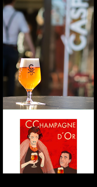 CChampagne d'Or Champagne gist speciaalbier Arnhem Brouwerij CC CASPAR Blondbier Blond Craft bier