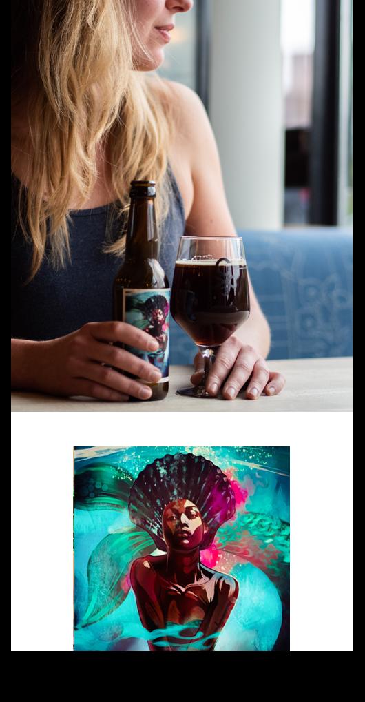 Zwarte Zilte Zeemeermin Visbroertjes Brouwerij CC Arnhem CASPAR speciaalbier bier smokey black ale